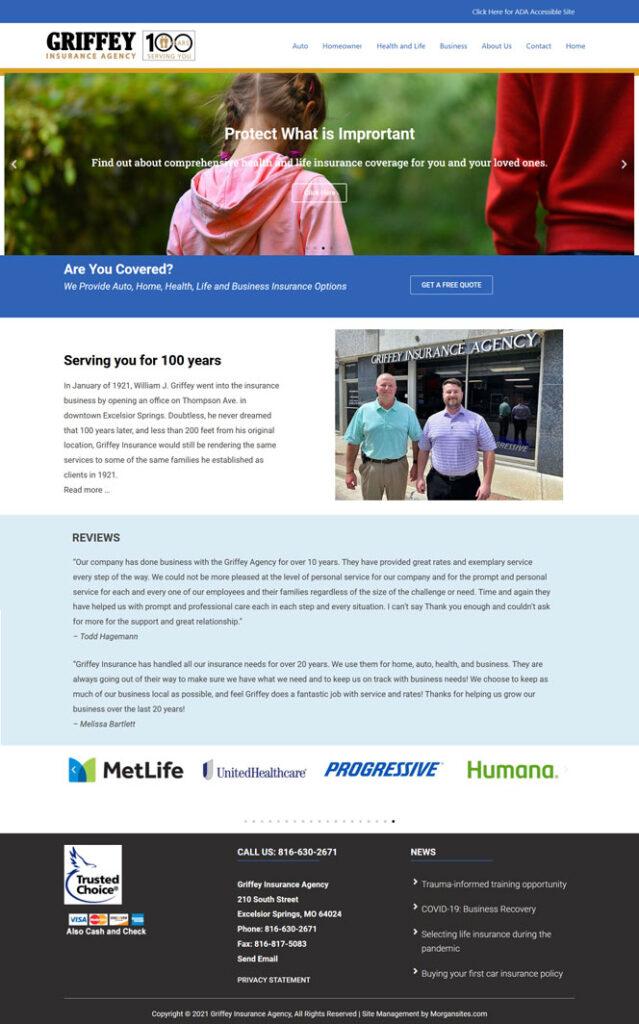 Morgansites Portfolio Griffey Insurance feature