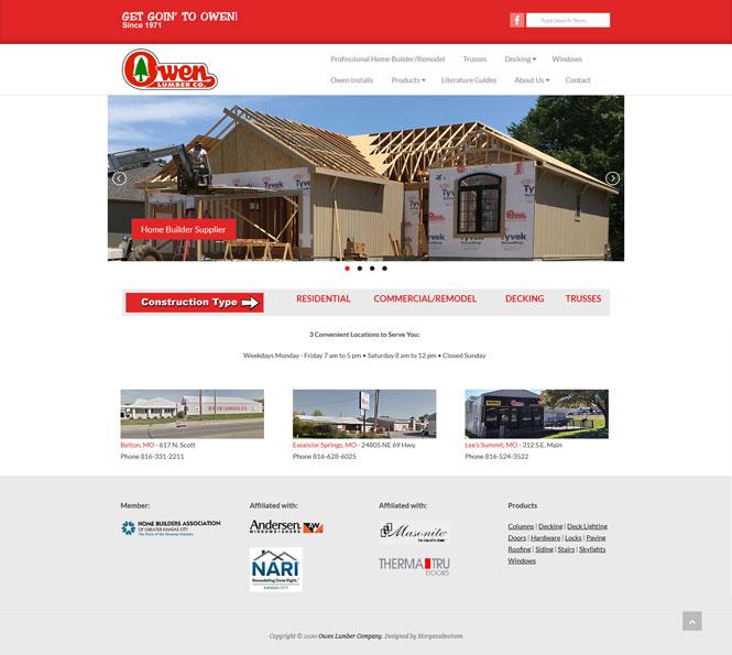 Portfolio Owen Lumber Company