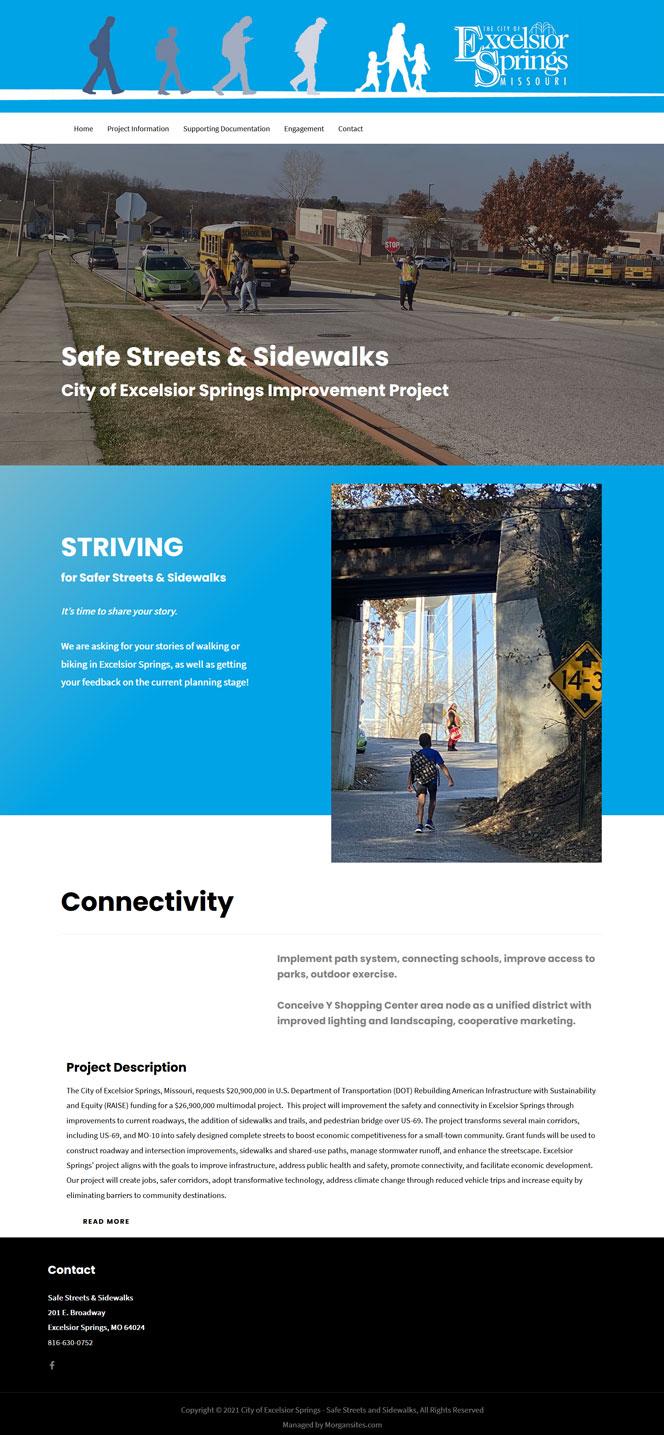 Morgansites Portfolio Safe Streets and Sidewalks